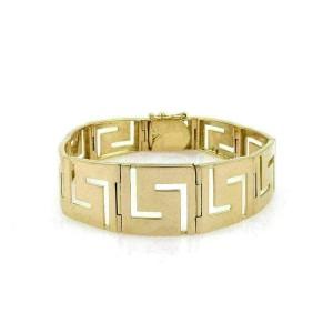 Estate 18k Yellow Gold Fancy Open Design Graduated Styel Bracelet
