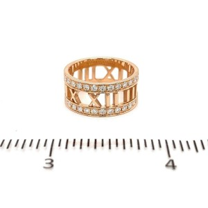 Tiffany & Co. Atlas Open Band Ring in 18k Rose Gold With Diamonds