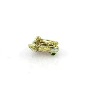 Estate 2.75ct Diamond & Emerald 18k Two Tone Gold Frog Pin