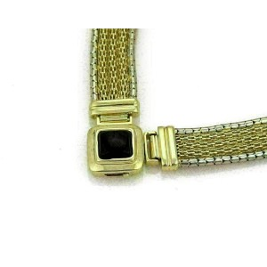 Onyx 14mm Wide Mesh Collar 14k Two Gold Gold Necklace