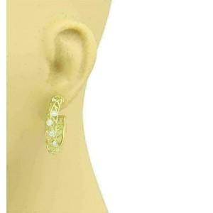 Hearts On Fire Diamonds Lattice Hoop 18k Yellow Gold Earrings