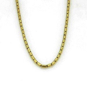 All Around Tube Link 24k Gold Chain Necklace
