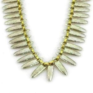 Gurhan Sunflower Sterling & 24k Gold Hammered Necklace