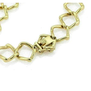 Tiffany & Co. Picasso Diamond Open Link 18k Yellow Gold Bracelet