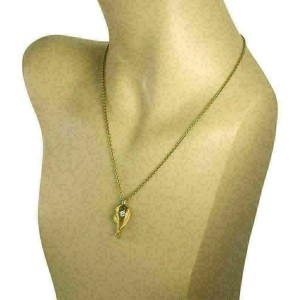 Carrera y Carrera Diamond 18k Yellow Gold Ballet Woman Pendant & Chain