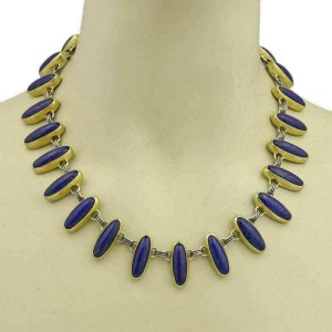 Gurhan Parliment Lapis Sterling 24k Layered Gold Necklace