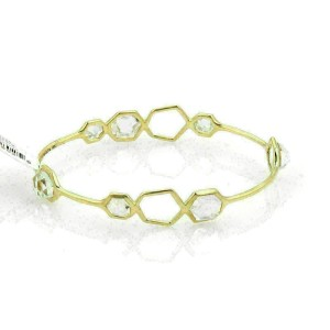 Ippolita Rock Candy Clear Quartz 18k Yellow Gold Bangle Rt. $2,995
