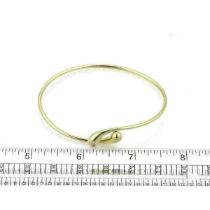 Tiffany & Co. Peretti 18k Yellow Gold Tear Drop Bypass Bangle Bracelet