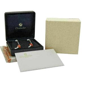 Chantecler Diamonds & Coral Fancy 18k Gold Dangle Earrings