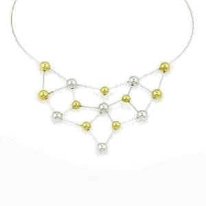 Chimento 18k Two Tone Fine Polished Chocker Bead Necklace w/Cert