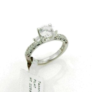 Tacori Platinum Diamond Mounting Only w/Accent Engagement Ring Rt. $5,720
