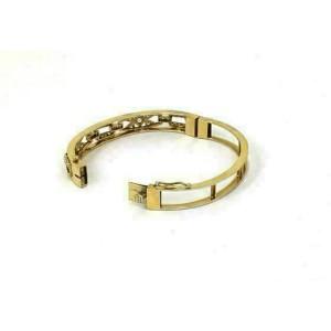 Estate 14k Yellow Gold 1.00ct Diamonds Open Design Bangle Bracelet
