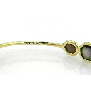 Ippolita Rock Candy Black Shell 7 Stone 18k Yellow Gold Bangle Rt. $2,995