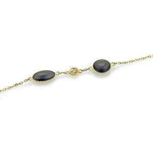 "Roberto Coin Diamond & Grey Enamel 18k Yellow Gold 35"" Long Toggle Necklace"
