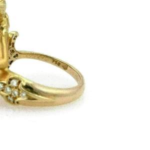 Carrera y Carrera Diamond Pearl 18k Yellow Gold Mermaid Ring
