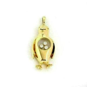 Chopard Happy Diamond 18k Yellow Gold Dangle Penguin Charm Pendant