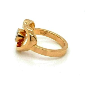 Chopard Happy Diamond 18k Rose Gold Double Heart Ring