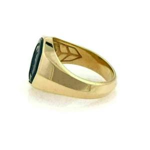 David Yurman Agate Intaglio 18k Yellow Gold Octagon Ring