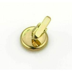Bvlgari Signature Onyx Yellow Gold Concave Circle Cufflinks