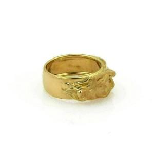 CARRERA y CARRERA Adam & Eve 18k Yellow Gold Band Ring Rt. $3,570