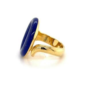 Tiffany & Co. Peretti Sevillana Lapis Lazuli 18k Yellow Gold Ring