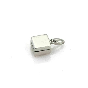 Dior Diamond 18k White Gold Ring in a Box Charm Pendant - Opens Up!