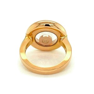 Chopard Happy Diamond 18k Rose Gold Round Floating Diamond Ring