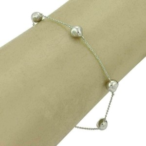 Tiffany & Co. Peretti Platinum 5 Nugget Charm Bracelet