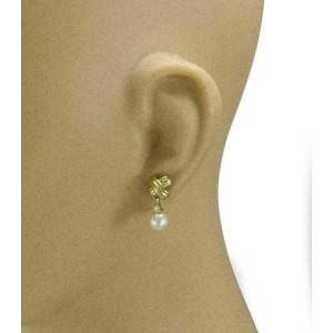 Tiffany & Co. Diamond Pearls 18k Yellow Gold Signature Dangle Earrings