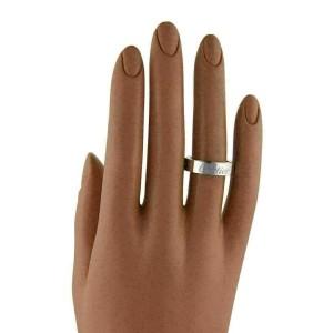 Cartier Astro Secret 18k White & Rose Gold 5.5mm Band Ring Size 52