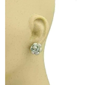 Marco Bicego Blue Topaz 18k White Gold Floral Post Stud Earrings