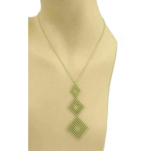 Tiffany & Co. Fringe 3 Tier Diamond Shape 18k Yellow Gold Pendant Necklace
