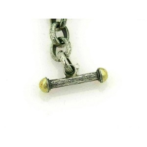 Gurhan HOOPLA Dark & White Sterling Silver 24k Gold Circular Wide Bracelet