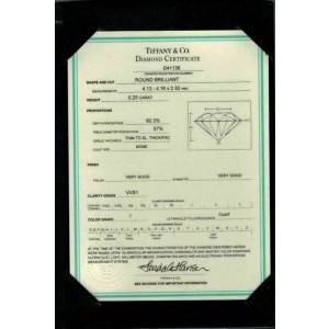 Tiffany & Co. Platinum & 0.25ct Diamond Solitaire Engagement Ring w/Cert