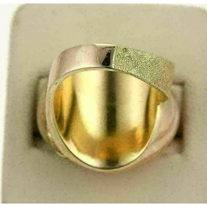 Estate 18k Rose & Yellow Gold Double Dome Design Ring