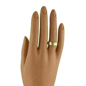 Tiffany & Co. T Two 18k Yellow Gold 5.5mm Wide Band Ring Rt. $1,700