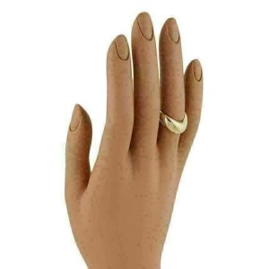 Fred Paris 18k Yellow Gold Wave Design Dome Band Ring