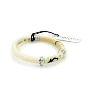 Nouvelle Bague Diamond Off White Enamel 18k Gold/Sterling Bracelet