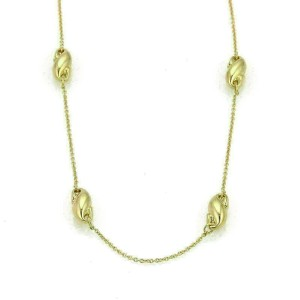 Tiffany & Co. Peretti Fancy Puffed Curved Charms 18k Yellow Gold Necklace
