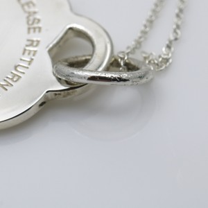 Tiffany & Co. Return to Heart Tag Charm Pendant Necklace in Sterling Silver