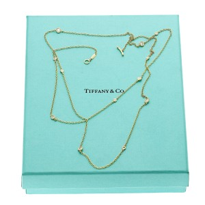 """Tiffany & Co 18K Gold Diamonds by the Yard Sprinkle Peretti Necklace 36"""" $10500"""