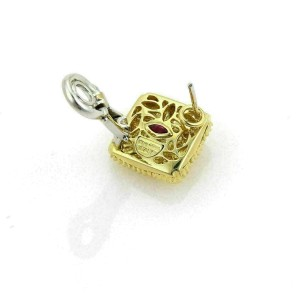 Roberto Coin Appassionata 18k Yellow Gold Basket Weave Square Earrings
