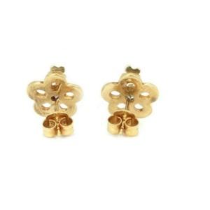 Tous Amethyst & Topaz 18k Yellow Gold Floral Enamel Stud Earrings