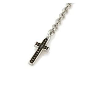 Pianegonda Citrine Sterling Silver Cross & Chain Long Drop Dangle Earrings
