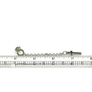 Pianegonda Ruby Cross & Chain Sterling Silver Long Dangle Earrings