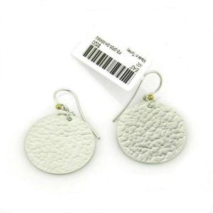 Gurhan Lush layered 24k gold & sterling silver Flake Disc Dangle Earrings
