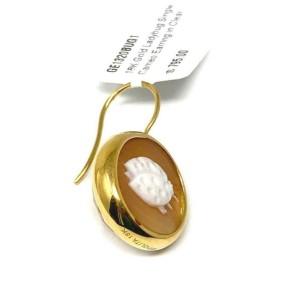 Ippolita Ladybug Shell Cameo Clear Quartz Single Butterfly 18k Gold Earring