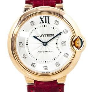 Cartier Ballon Bleu 3003/WJBB0010 Rose Gold Diamond Markers Lady's Watch 36mm