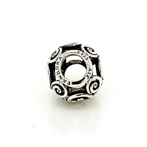 Authentic PANDORA 925 Sterling Silver Scroll Bead