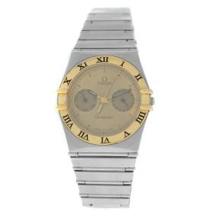 Omega Constellation 396.1069 Men's Unisex Day Date 18K Gold Steel Quartz Watch